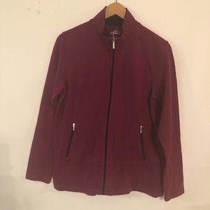Style & Co . Women's Maroon Full Zip Up Jacket L